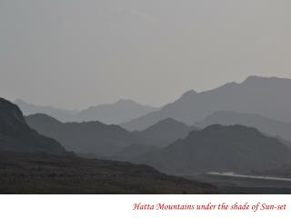 Hatta  Mountains under the shade of Sun-set