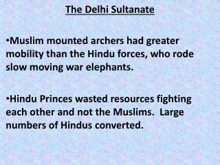 The Delhi Sultanate