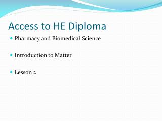 Access to HE Diploma