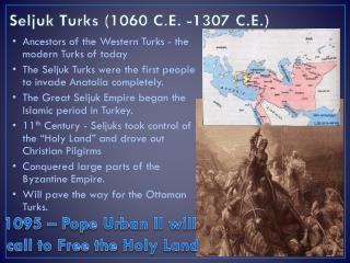 Seljuk Turks (1060 C.E. -1307 C.E.)