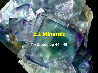 2.2 Minerals