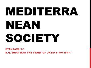 Mediterranean Society