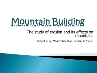 Mountain Building