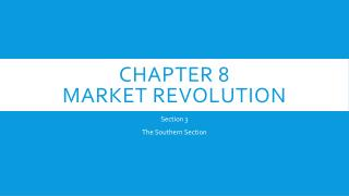 Chapter 8  Market revolution