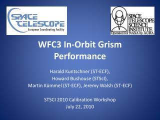 WFC3  In-Orbit Grism Performance