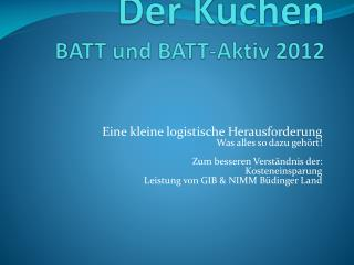 Der Kuchen BATT und BATT-Aktiv 2012