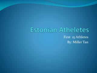 Estonian  Atheletes
