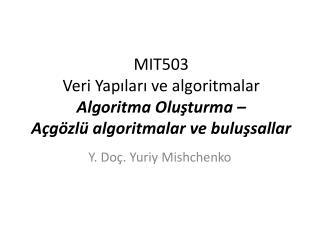 Y. Doç. Yuriy Mishchenko