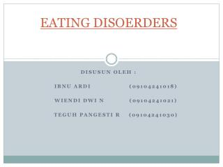 EATING DISOERDERS
