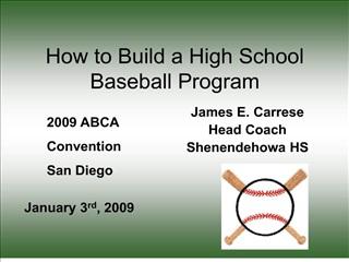 How to Build a High School Baseball Program