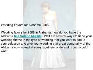 Wedding Favors for Alabama 2008