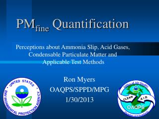 PM fine  Quantification