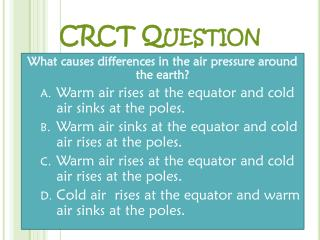 CRCT Question