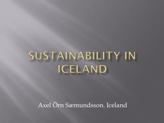 Sustainability in Iceland