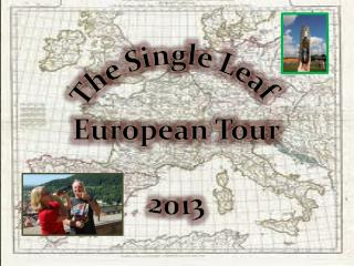 The Single Leaf  European Tour 2013
