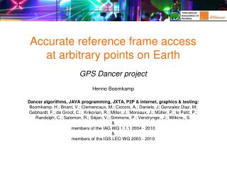 How can we  refer to  the ITRF from arbitrary locations?