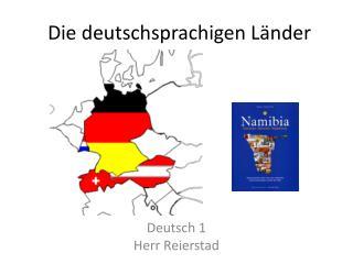 Die  deutschsprachigen  L ӓ nder