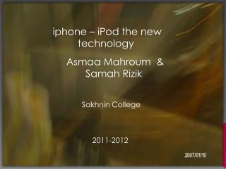 iphone – iPod the new technology