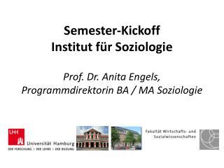 Programm Begr��ung durch die Dekanin der  WiSo -Fakult�t, Prof. Dr. Gabriele L�schper