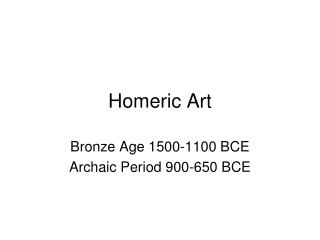 Homeric Art