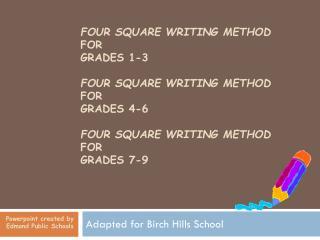FOUR SQUARE WRITING METHOD FOR GRADES 1-3 FOUR SQUARE ...