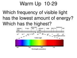 Warm Up  10-29
