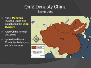 Qing Dynasty China Background