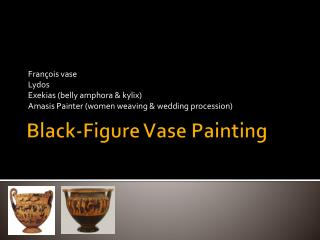 Black-Figure Vase Painting