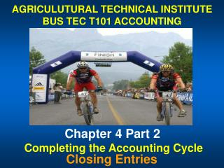 Chapter 4 Part 2 AGRICULUTURAL TECHNICAL INSTITUTE