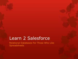 Learn 2 Salesforce