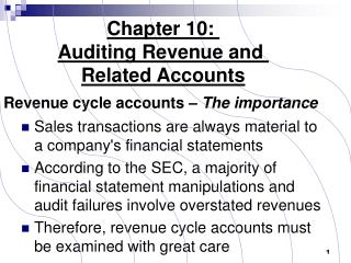 Auditing Revenue  Related Accounts
