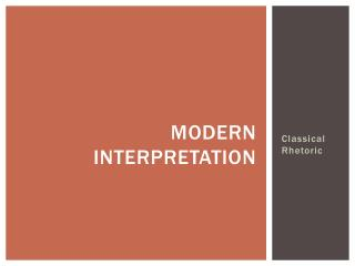 Modern Interpretation
