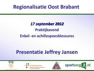 Re gionalisatie Oost Brabant
