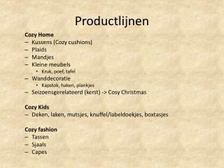 Productlijnen