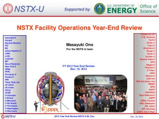 NSTX Facility Operations Year-End Review