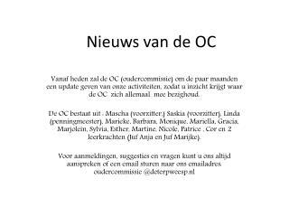 Nieuws van de OC