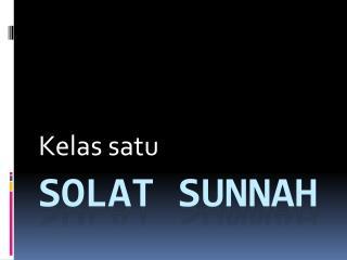 Solat Sunnah
