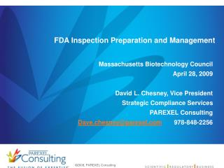 FDA Inspection Preparation and Management