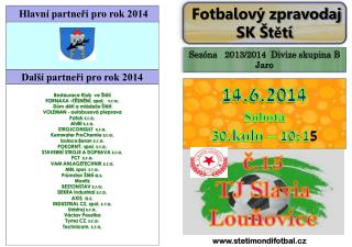 č.15 TJ  Slavia Louňovice