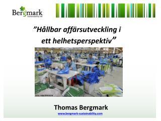 """""""Hållbar affärsutveckling i                 ett helhetsperspektiv """" PurNet  24 maj 2011"""