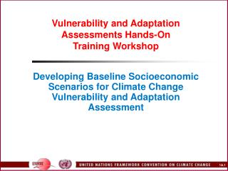 Vulnerability and Adaptation Assessments Hands-On Training ...