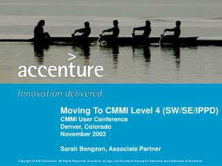 Moving To CMMI Level 4 SWSEIPPD CMMI User Conference ...