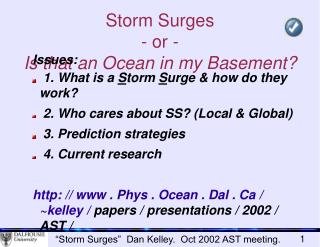 Storm Surges - or - Is that an Ocean in my Basement