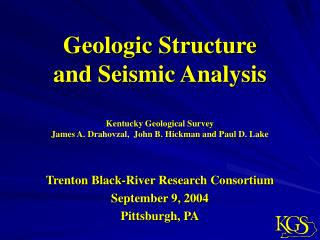 Geologic Structure and Seismic Analysis