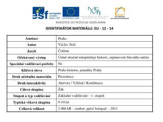 Identifikátor materiálu:  EU -  12 - 14
