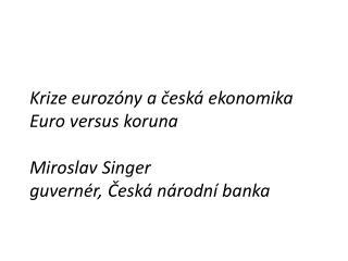 3 příčiny krize eurozóny