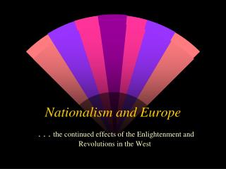 Nationalism and Europe