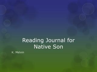 Reading Journal for  Native Son