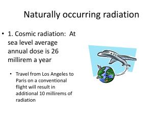Naturally occurring radiation
