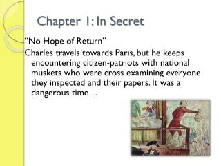 Chapter 1: In Secret
